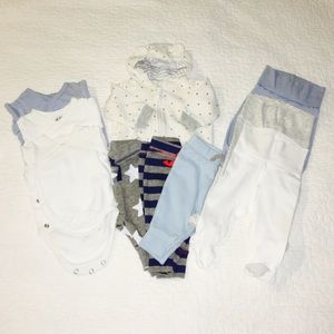 Lot 10 pieces Baby Boy Mixed Clothes 0-3monts